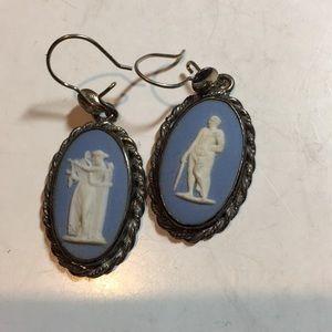 wedgwood Jewelry - Vintage  Wedgwood sterling silver dangle earrings